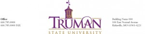 Sample letterhead design for Truman State University